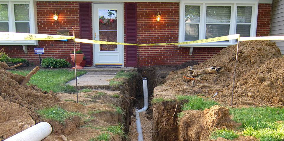 Sewer Line Repair and Replacement in home