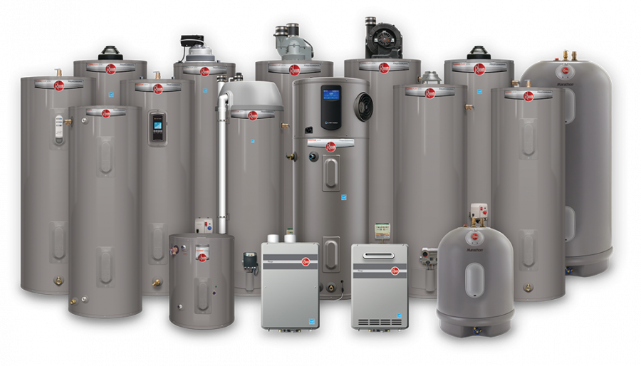 Rheem Water Heater diferent models