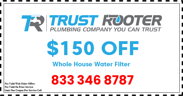 Trust Rooter Plumbing coupon water filter
