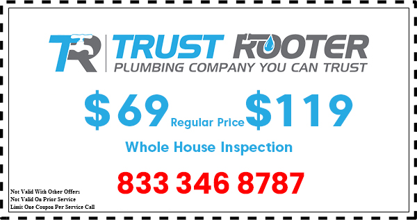 Trust Rooter Plumbing coupon house inspection