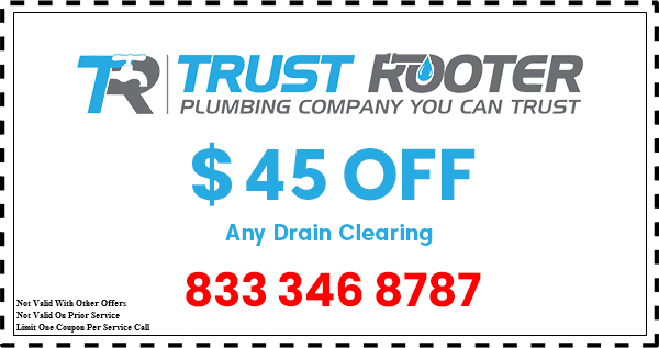 Trust Rooter Plumbing coupon drain cleaning