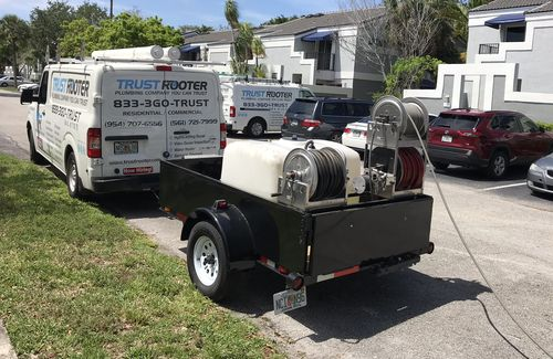 Hydro Jetting Machine to clean sewer drain line